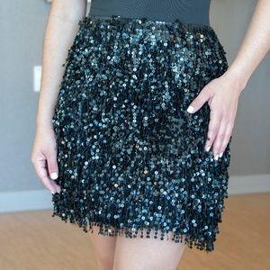 kate spade sequin black skirt
